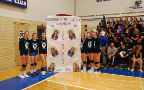 Senior volleyball players recognized