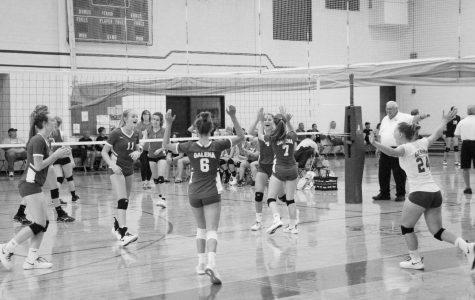 JV volleyball celebrate a successful season