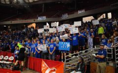 Student section spurs on team