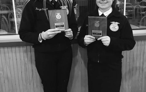 Solid Speaking. Kenzie Casper and Mackenzie Furlong did an excellent job representing Galena at District Proficiency Interviews. Furlong won the Wildlife Management category for her pheasant project and advanced to the state contest on March 23.