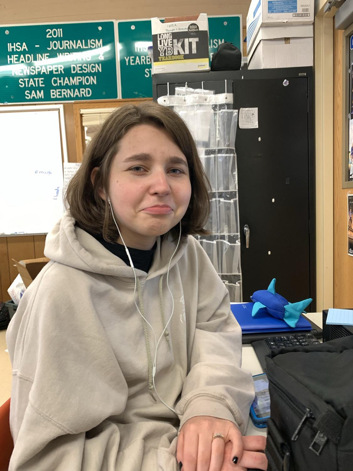 "Senior Marion Schultz being upset about how she has to be here for another 24 days. ""I seriously can't wait until summer. I'm going to have so much free time until I enter college!"" Marion said. Seniors will graduate on May 19, 2019 in the gym."