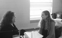 Kaihleah Gornick '20 works with guidance counselor, Brooke Deppe to map out a plan for senior year. Gornick is excited to lay the groundwork for her college search.