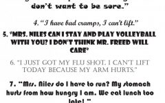 10 Things Students Say to Get Out of Gym Class