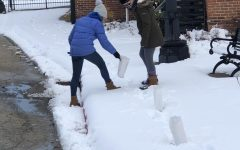 Helping get people in the holiday spirit, Kristin Hall '21 and Maggie Handfelt '21 help set up the Luminaria. The Luminaria is a great way to get involved in the community while spreading holiday cheer and we can't wait for the opportunity to do it again.