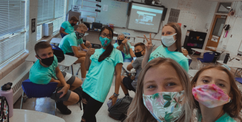 "The closet thing our seniors have gotten to a class photo thus far, is a selfie in math class on the first day of school. ""I am hopeful our class will be able to come together as one and get a class photo by the end of the year,"" said Morgan McIntyre"