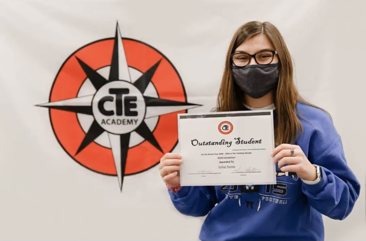 CTE students given Student of the Quarter award