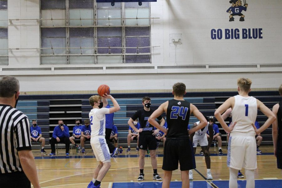 Nothing+But+Net%0ASenior%2C+Conor+Behr+scores+a+free+throw+after+being+fouled+by+the+East+Dubuque+Warriors.+%22Our+goal+is+to+play+more+as+a+team+to+help+us+finish+the+season%22+%2Csaid+Behr.+%22After+two+hard+losses%2C+we+are+preparing+to+win+our+future+games.%22%0A
