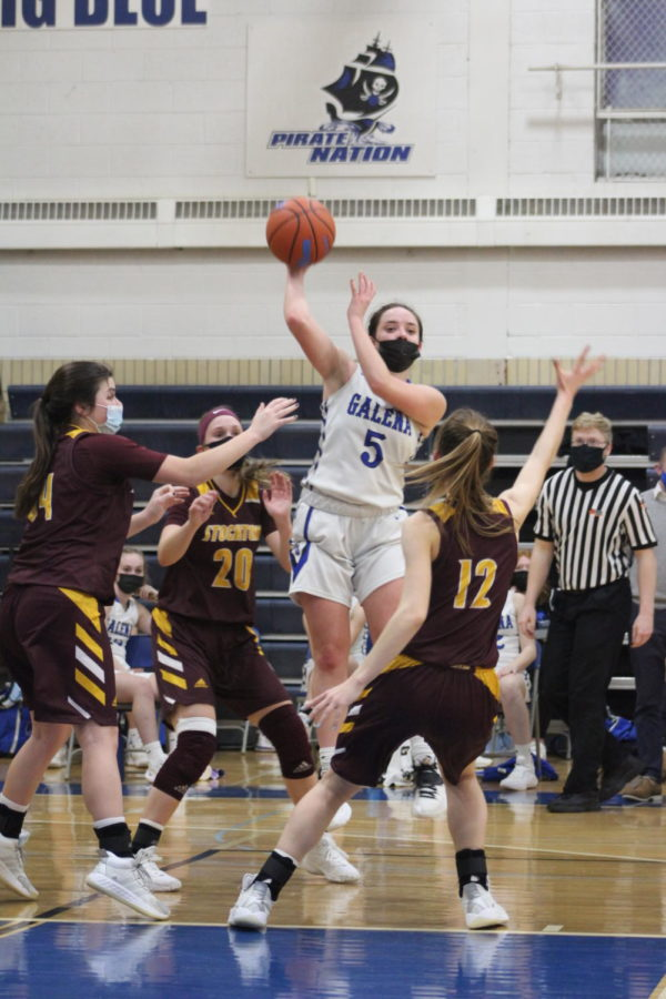 """Taylor Stockton BB:  Looking at the bright side. """"Offensively, we fell short in the second half, but we had a strong defensive front overall!"""" says Taylor Burcham '24."""