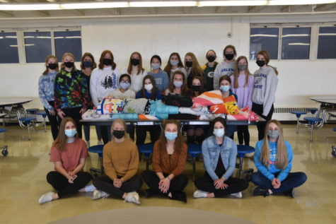 The Galena Key Club gathered together last week to make tie blankets for a cause. In the past, the club has made and donated blankets to children
